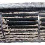 Загрязнённая крыльчатка вентилятора кондиционера