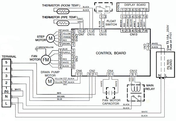 Электрическая схема внутреннего блока неинверторного кондиционера